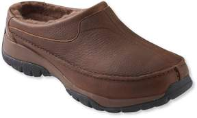 L.L. Bean L.L.Bean Men's Comfort Mocs, Shearling-Lined Slide