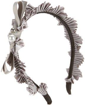 Edgehill Collection Pearl/Bow Satin Headband