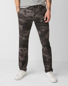 Express Slim Fit Camo Print Stretch Chino
