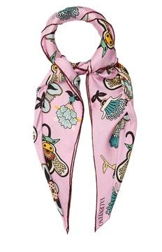 VALENTINO Floral-print silk-satin scarf