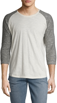 Nudie Jeans Men's Quarter Sleeve Contrast Tee