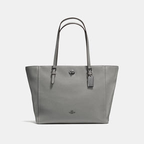COACH Coach Turnlock Tote - DARK GUNMETAL/HEATHER GREY - STYLE