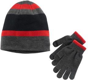 Tek Gear Boys Striped Hat & Gloves Set