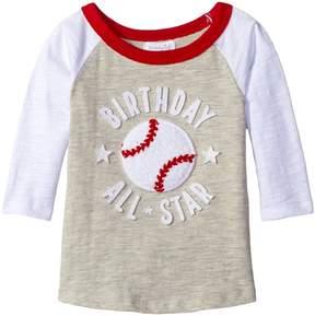 Mud Pie 1st Birthday All-Star Raglan T-Shirt Boy's T Shirt