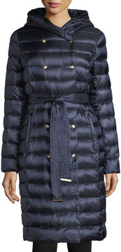 Ellen Tracy Packable Double-Breasted Coat w/ Hood