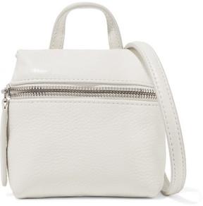 KARA - Micro Textured-leather Shoulder Bag - White