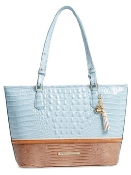 Brahmin Medium Asher Leather Tote - Blue