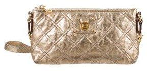 Marc Jacobs Metallic Leather Crossbody Bag - GOLD - STYLE