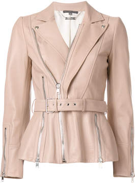 Alexander McQueen zip up leather jacket