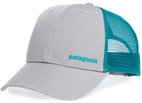 Patagonia Men's Text Logo Trucker Hat - Grey