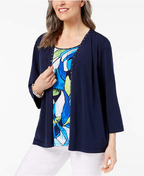 Alfred Dunner Royal Street Layered-Look Embellished Top