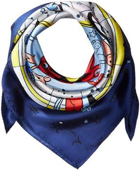 Echo Written in The Stars Silk Square Scarves