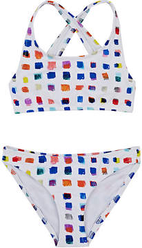 Milly PIXEL-PRINT TWO-PIECE SWIMSUIT