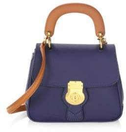 Burberry Trench Leather Top Handle Bag - INK BLUE - STYLE