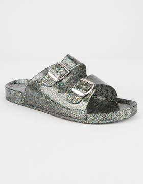 Qupid Glitter Womens Slide Sandals