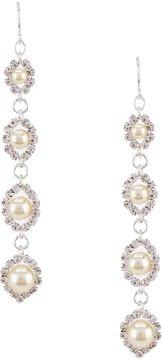 Cezanne Faux-Pearl Daisy Link Drop Earrings