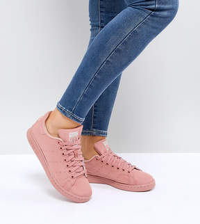 adidas Pink Stan Smith Satin Quilted Sneakers