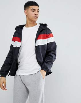 Blend of America Hooded Jacket with Stripe Chest