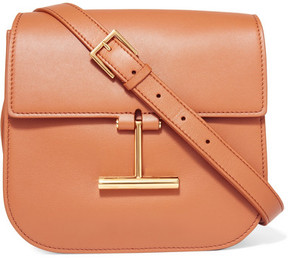 Tom Ford Tara Small Leather Shoulder Bag - Tan