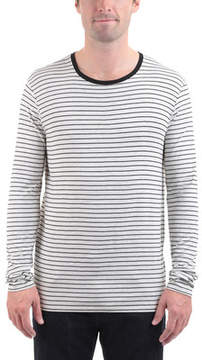 ATM Anthony Thomas Melillo Long Sleeve Striped Viscose Tee (Men's)