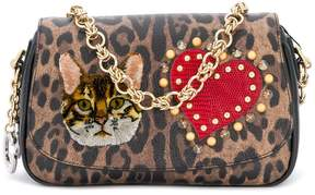 Dolce & Gabbana patched leopard print clutch - BROWN - STYLE