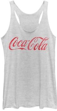Fifth Sun White Heather Coca-Cola Racerback Tank - Juniors