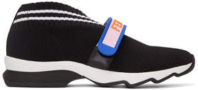 Fendi Black Velcro Knit Sneakers