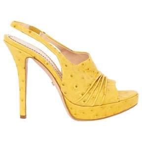 Jerome C. Rousseau Yellow Leather Heels