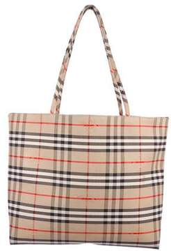 Burberry Canvas Haymarket Check Tote