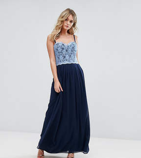 Elise Ryan Corset Detail Maxi Dress With Lace Bodice