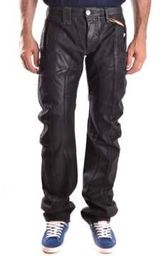 Galliano Men's Black Cotton Pants.