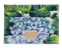 Dolce & Gabbana Hydrangea-Print Leather Card Case - MULTI - STYLE
