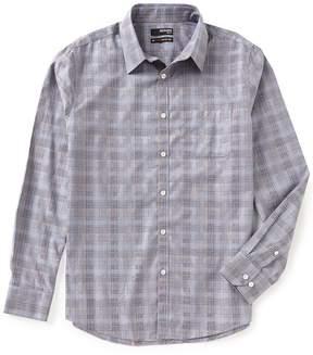 Murano Non-Iron Slim-Fit Long-Sleeve Point Plaid Sportshirt
