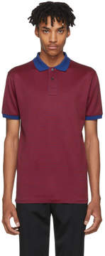 Paul Smith Navy and Red Checkered Regular-Fit Polo