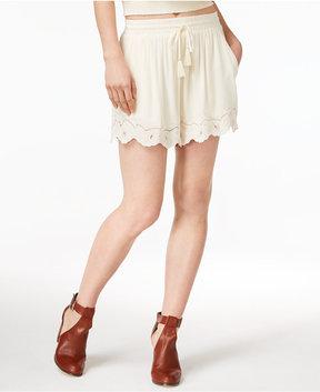 Astr Rita Embroidered Drawstring Shorts