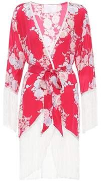 Athena Procopiou Heartbeats silk kimono top