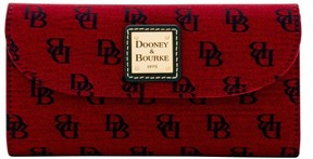 Dooney & Bourke Madison Signature Continental Clutch Wallet - CRANBERRY - STYLE