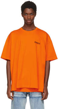 Balenciaga Orange Speedhunter Double Hem T-Shirt