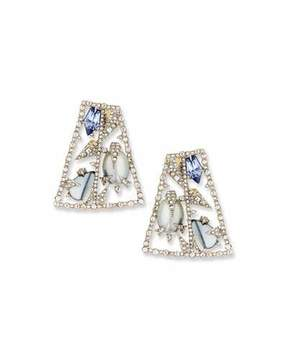 Alexis Bittar Fancy-Cut Crystal Mosaic Earrings