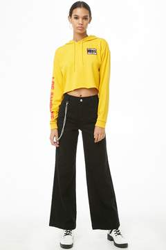 Forever 21 Wallet Chain Wide-Leg Jeans