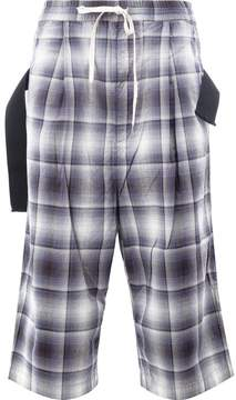 Miharayasuhiro checked drop-crotch trousers