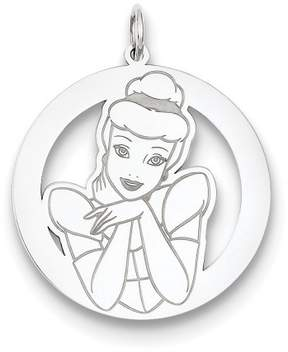 Disney Sterling Silver Cinderella Round Charm