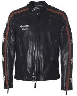 Blauer Men's Black Leather Outerwear Jacket.