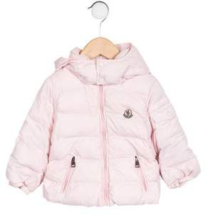 Moncler Girls' Hooded Down Coat