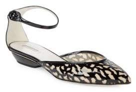 Giorgio Armani Patent Leather Ankle-Strap Flats