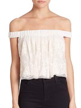 Bec & Bridge Women's Lady Lace Off-The-Shoulder Top