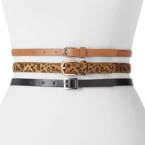 Apt. 9 Women's Leopard Print 3-for-1 Belt Set