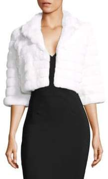 Alberto Makali Rabbit Fur Crop Jacket