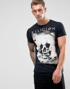 Religion Skull Card T-Shirt
