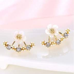 Alpha A Designer Inspired Gold Amaon Jacket Earrings